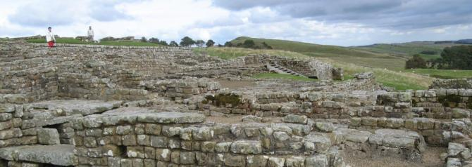 Housesteads Roman Fort - along Hadrian's Wall in Northumberland