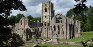 World Heritage Site Fountains Abbey near Ripon