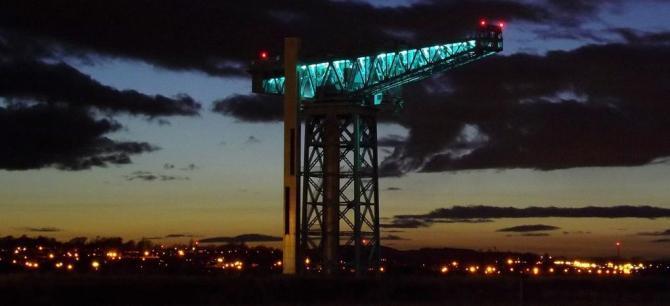 Titan Crane by night