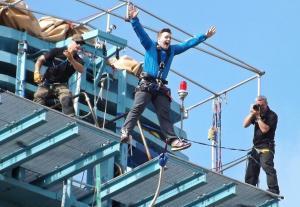Bungee jumping at the Titan Crane