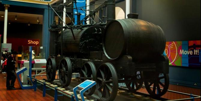 National Museum of Scotland railway engine