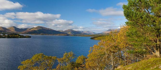 Stunning view of Loch Lomond