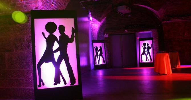 70s themed party at the Arches