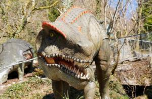 Dinosaur exhibit at the Dan yr Ogof Caves