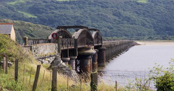 Barmouth Bridge on the Cambrian Coast Railway