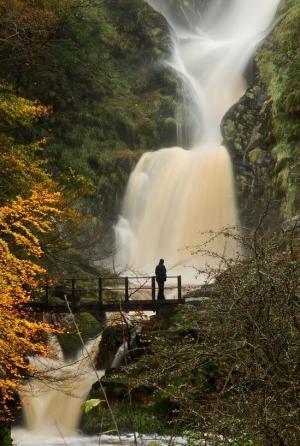 Newtown Pistyll Rhaedr Waterfall