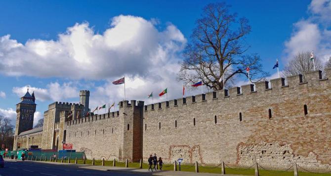 Cardiff Castle's walls