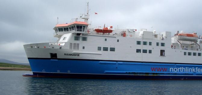 One of the Northlink ferries to the Orkneys