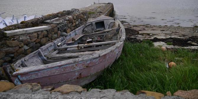 Old boat on Unst