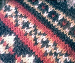 Fair Isle pattern with Icelandic wool