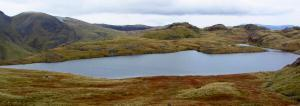 Sprinking Tarn - source of the Derwent high up in the fells