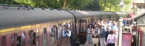 Steam Trains go 1940s - Keighley & Worth Valley Railway, Haworth Station