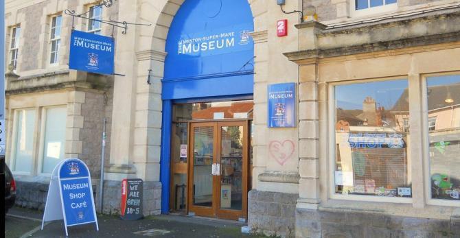 Outside the Weston-super-Mare Museum
