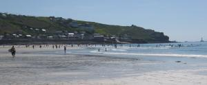 View towards Land's End from Sennen Cove