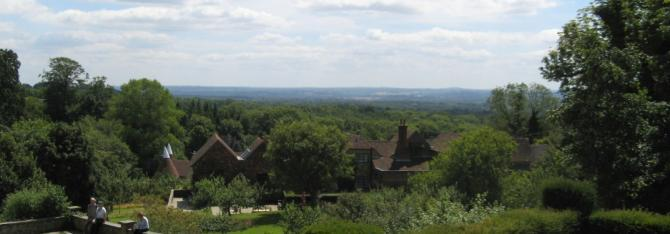 Rural views from Chartwell - book a Kent cottage in the High Weald or Downs