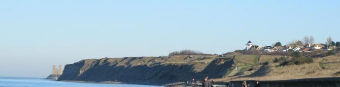 Dog friendly walks around Reculver Cliffs and Beach, North Kent Coast