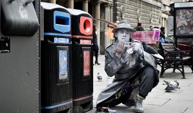 A Bath street performer