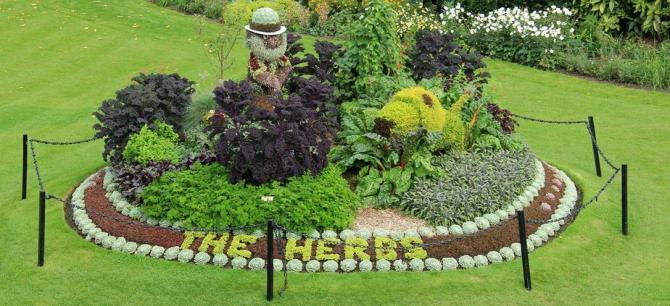 Spectacular herb art at Bath's Parade Gardens