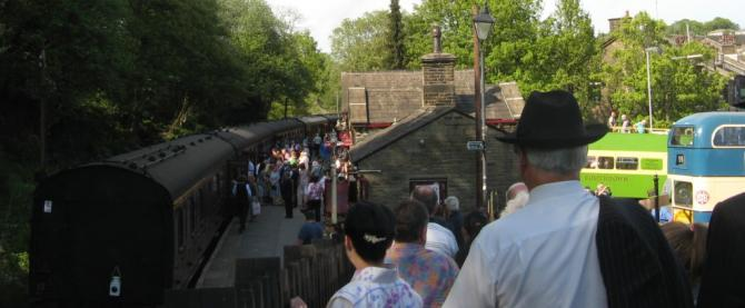 Haworth 1940s Weekend - annually in May. Arrive in style via the Keighley & Worth Valley Railway