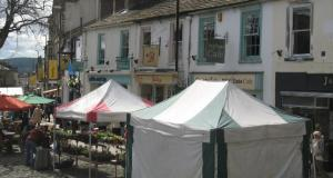 Skipton Market Stalls on the award-winning High Street