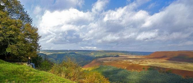 View over the North York Moors from Newton-Upon-Rawcliffe near Cropton