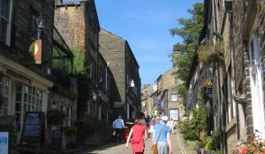 Haworth's cobbled Main Street