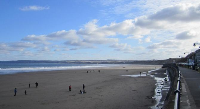 View over Filey seafront