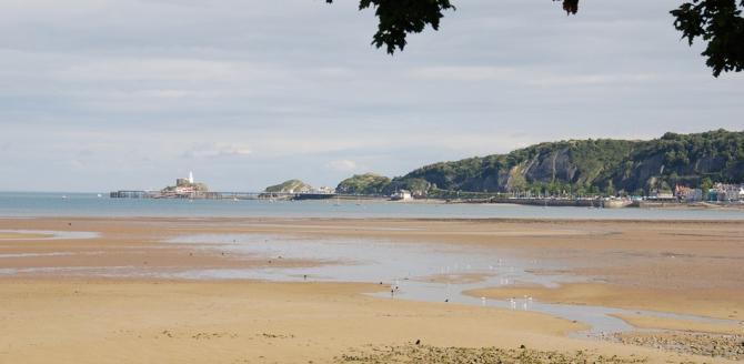 View of Mumbles beach