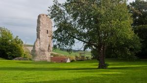 Ruins of Norman Bramber Castle near Steyning