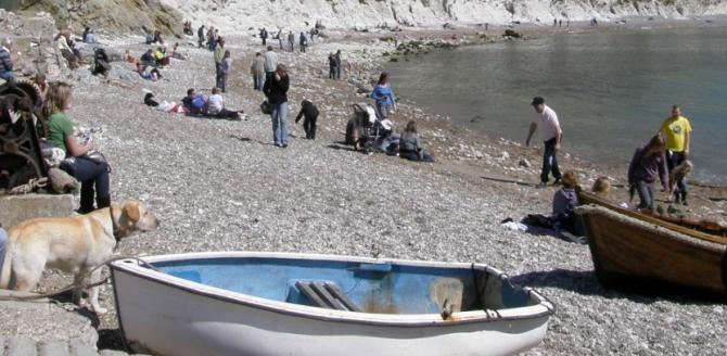 Wish You Were Here - Lulworth Cove on the Jurassic Coast is Dog Friendly All Year Round!
