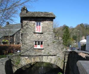 Ambleside's famous quirky building - Bridge House
