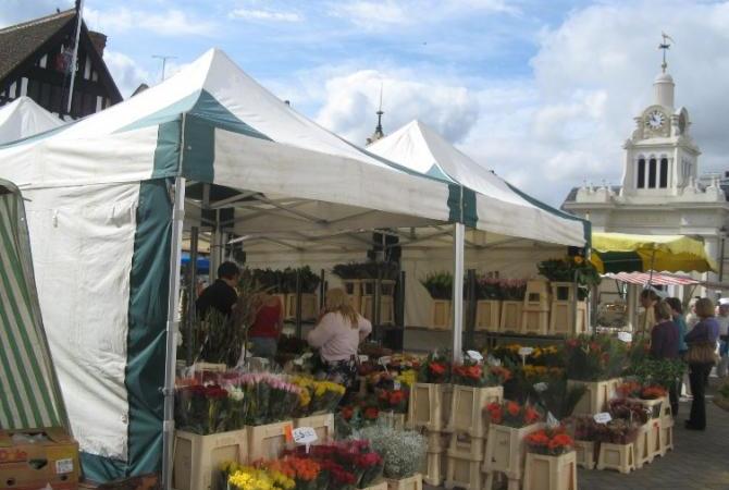 Saffron Walden Markets in Market Place
