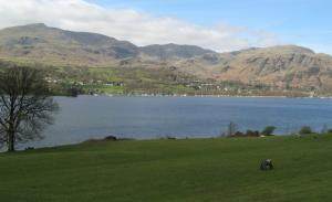 Coniston Old Man & Coniston Water from Brantwood