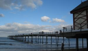 Saltburn Pier view