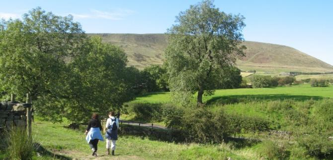On The Pendle Witches Trail - Walking up Pendle Hill