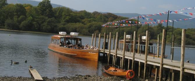 Boat trips on Derwentwater - the lake is just a few minutes' stroll from the town centre