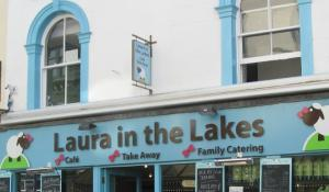 Sample the famous Cumbria Ploughman's Sausage Roll at Laura in the Lakes on Keswick Main Street