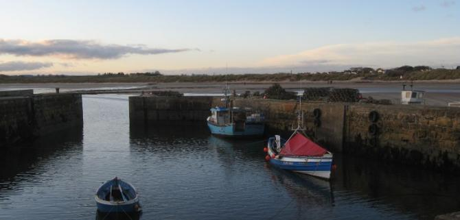 Beadnell Harbour at dusk
