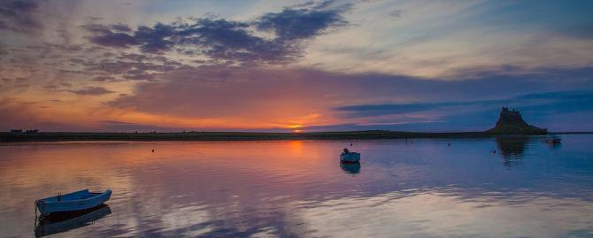 The Holy Island of Lindisfarne at dawn