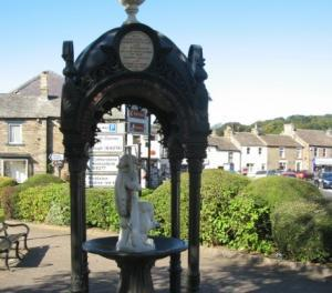 Decorative Fountain presented to the town by the employees of the London Lead Co & Friends in Sept 1877