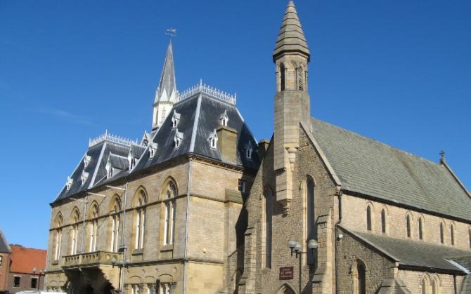 Victorian Town Hall in Bishop Auckland
