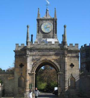 The 18th century Robinson Clock Tower & Gatehouse entrance to the Park