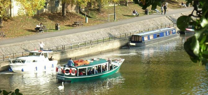 Boat trips on the River Avon at Bath