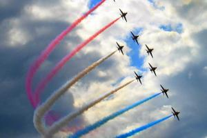 The Red Arrows at Farnborough Airshow