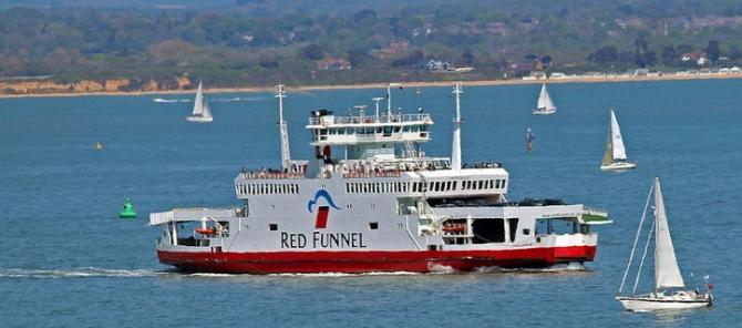 Red Funnel Ferry Services to Cowes on the Isle of Wight