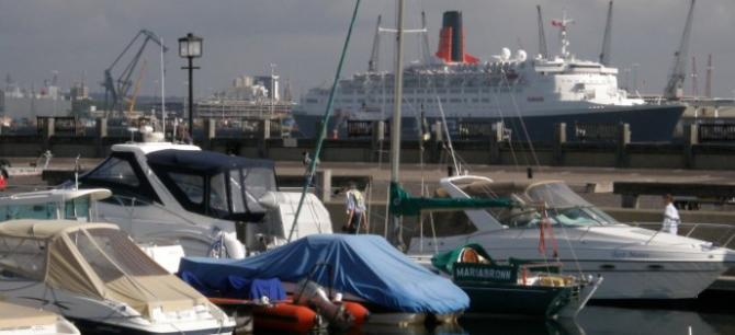 Cruise Liner views from Hythe Marina