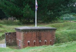 The Albert Barracks model fort used by the royal children for three generations