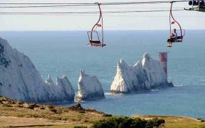 Spectacular views of The Needles from the famous chairlift
