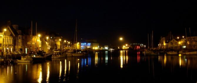 Weymouth Harbour by Night