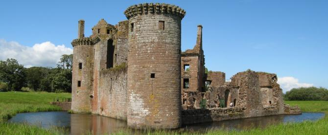 Caerlaverock Castle, Dumfries & Galloway - one of Scotland's great medieval fortresses